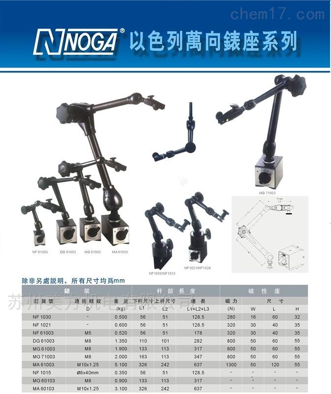 NF61003NOGA以色列磁性表座MA61003 磁性型