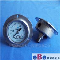 Y-60BFZT/100BFZT/150BFZT不锈钢轴向带边压力表