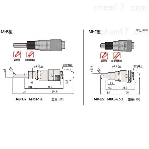 测微头 148 系列 — 0.25mm/rev 精细进给