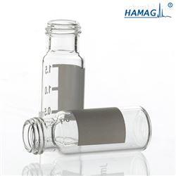 样品瓶9mm透明螺纹印刷带书写
