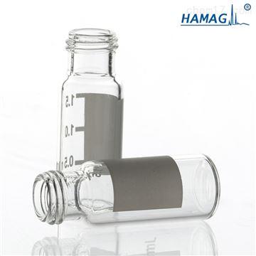 HM-0713/HM-0713Y样品瓶9mm透明螺纹印刷带书写