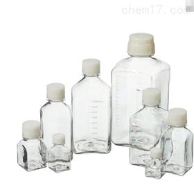 Nalgene 方型带盖 PETG 培养基瓶(无菌)