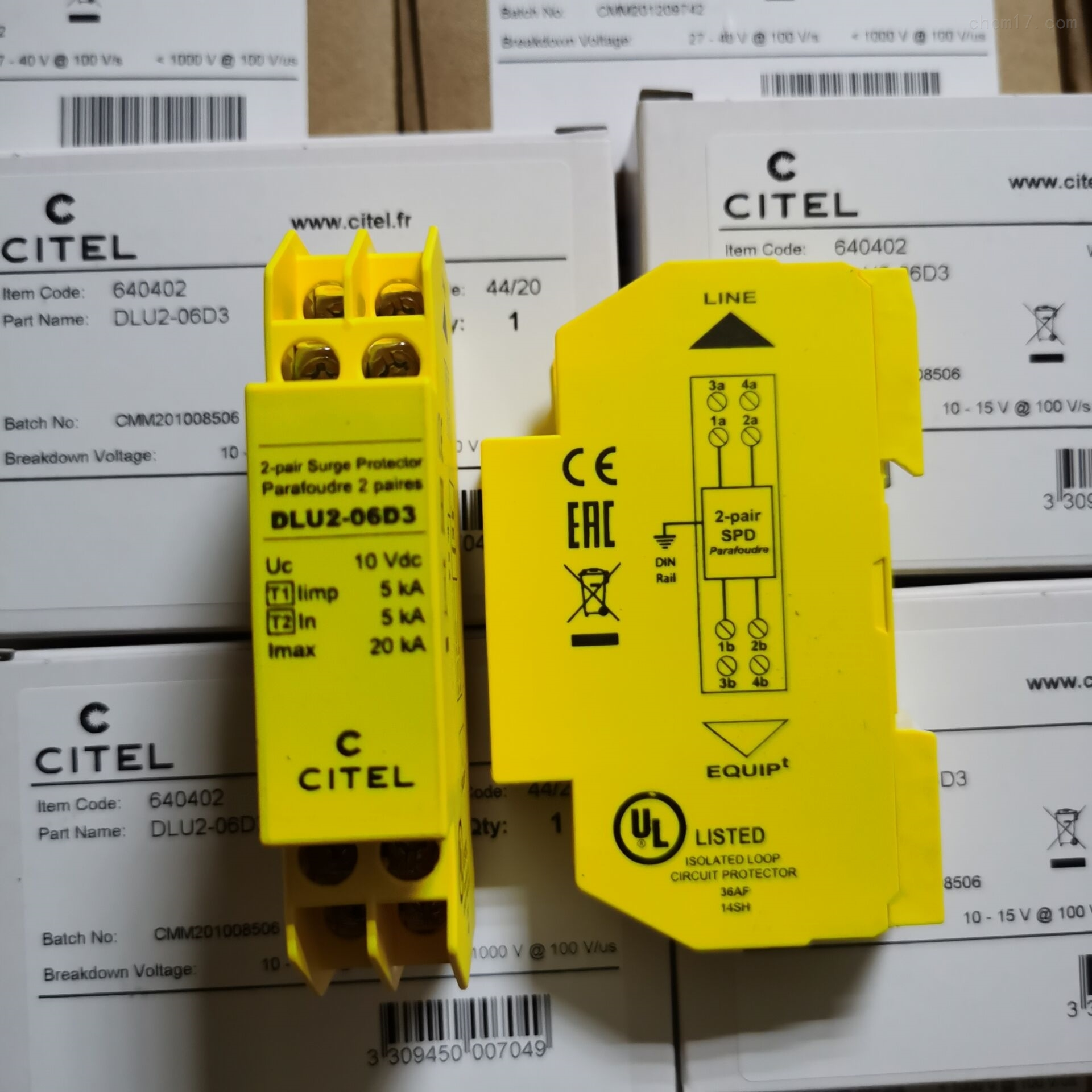 西岱尔信号电涌保护器DLU-170防雷器促销