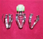 100ml订制鸡心瓶 不锈钢摇瓶机烧瓶夹具