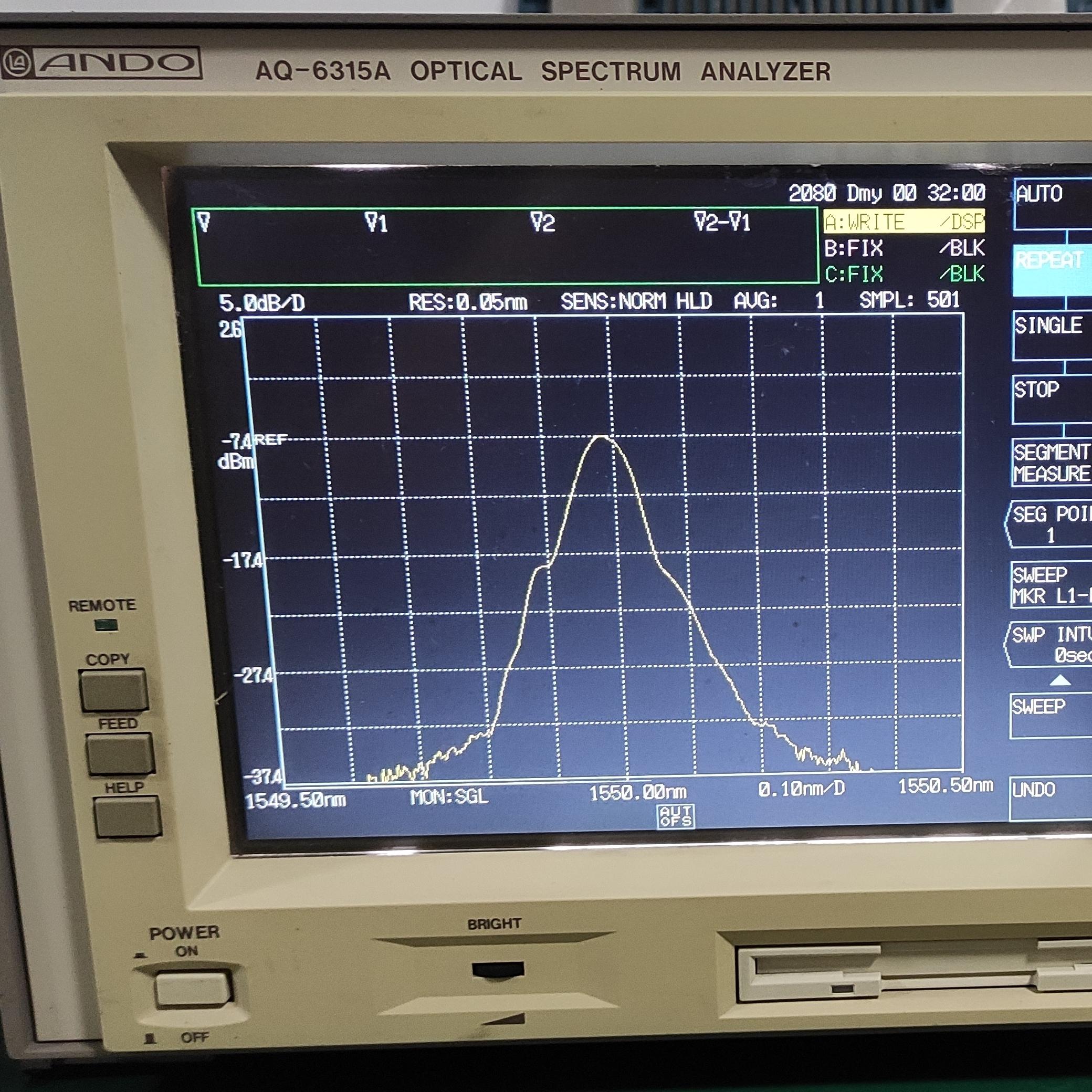 AQ6315A横河YOKOGAWA光谱分析仪AQ6315A