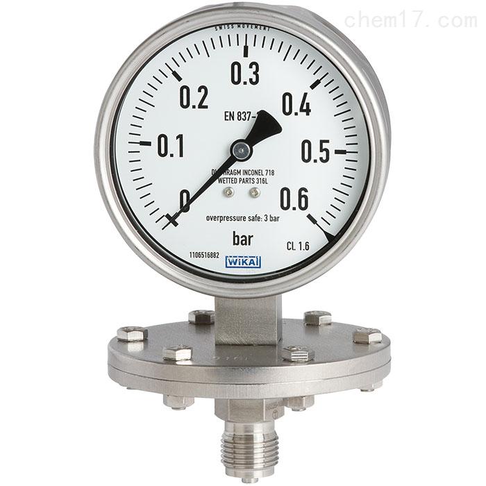 德国WIKA威卡隔膜压力表适用于过程工业