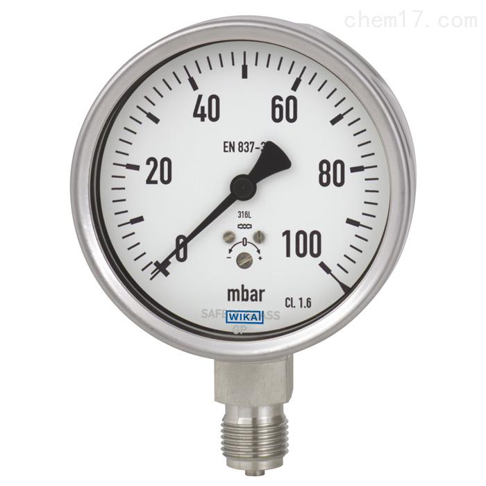 WIKA威卡检测仪表准确度等级为0.6,NS 160