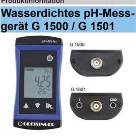 G1500Greisinger防水pH计酸碱度测量仪手持式