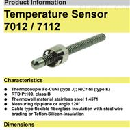 7012 / 7112马腾斯martens温度传感器热电偶温度探头