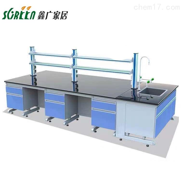 潍坊钢木实验台,全钢中央台,化验室试验桌