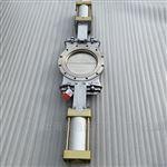 SPZ673W-10P插板阀双气缸气动不锈钢刀型闸阀