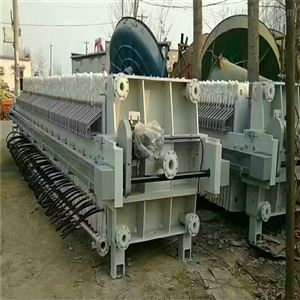 二手150平方污泥自动拉板压滤机