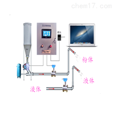 粉尘液体混合配发料系统