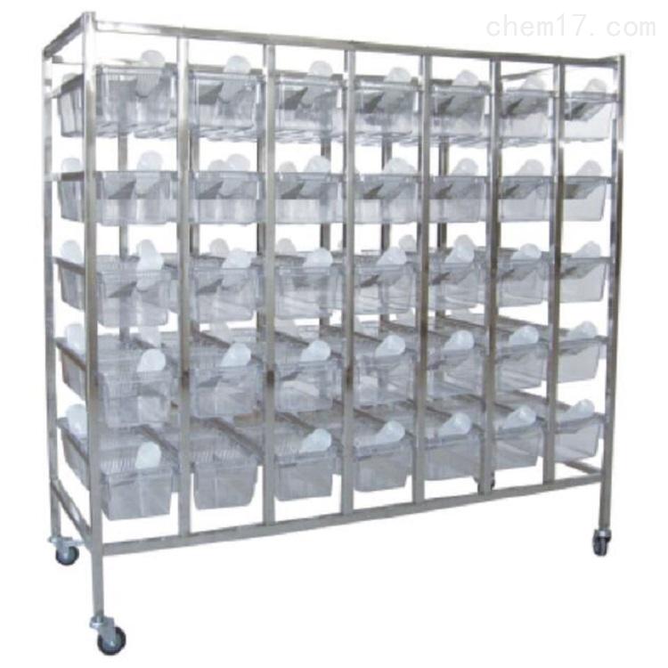 不锈钢小鼠架 双面 70笼位 含70个笼盒