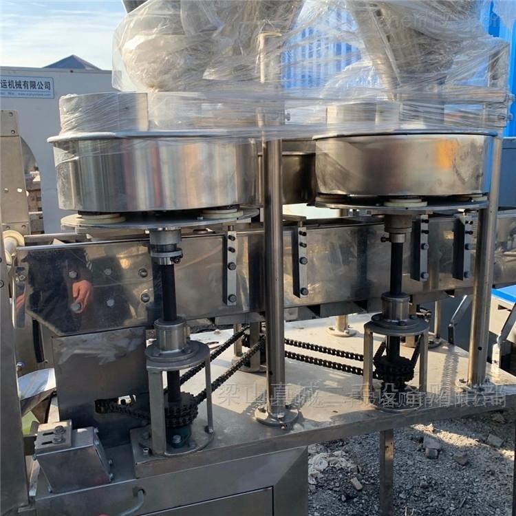 二手4个料筒 立式链板粉剂背封包装机