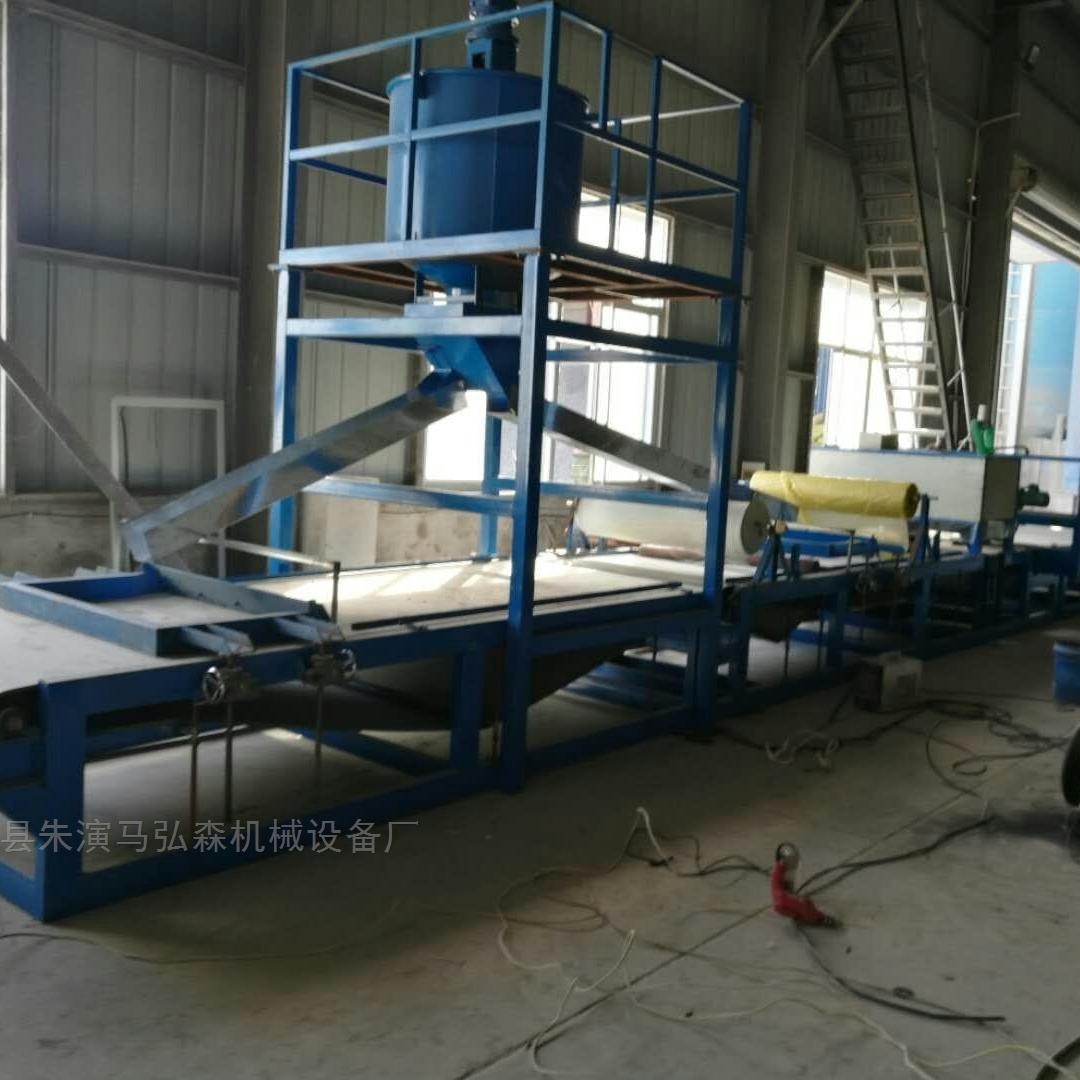 大型自动计量砂浆复合岩棉板生产设备实体