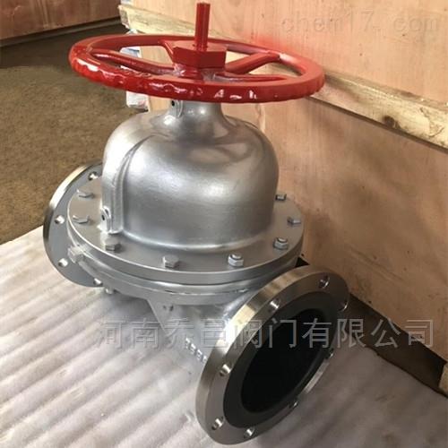 G41J堰式不锈钢衬胶法兰隔膜阀