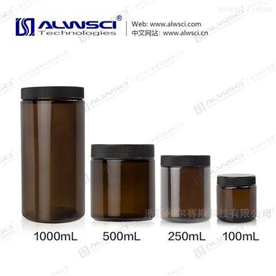 C0001702广口直筒土壤瓶分装瓶采样瓶VOC直口棕色