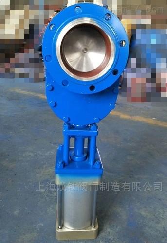 WZ644C气动耐磨金属双闸板阀