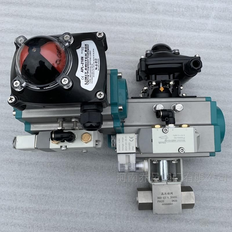 Q611F-420P气动高压内螺纹球阀