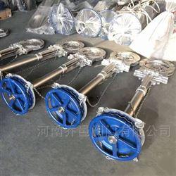 310S耐高温高空操作链轮刀型闸阀