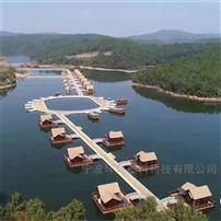 500*500*400湖泊水上組建房屋遊艇泊位塑料浮台浮筒