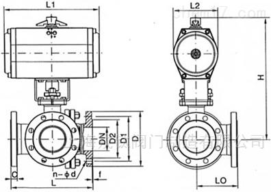 气动不锈钢L型三通球阀