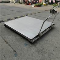 DCS-HT-Y武汉1t手推移动式平台秤 2吨带轮子移动地磅