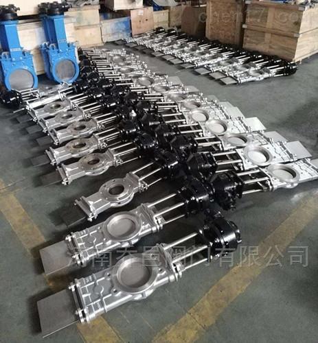伞齿轮穿透式插板阀 伞齿轮穿透式闸板阀