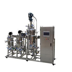 JD-SFM-5-50L5-50L二联全自动不锈钢发酵罐