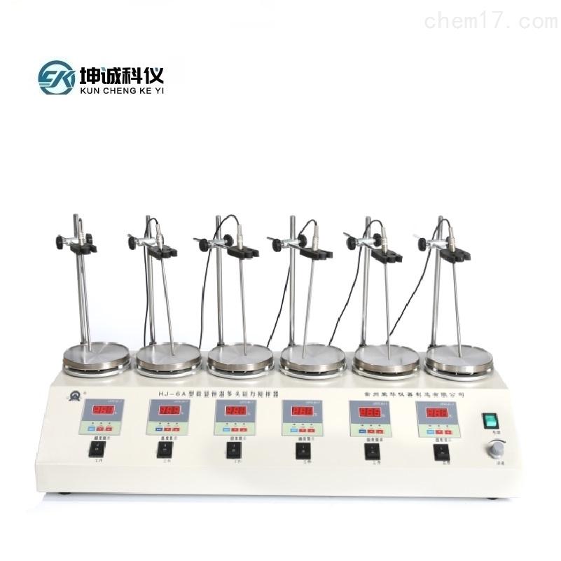 HJ-6A 数显恒温多头磁力搅拌器