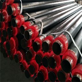 529*8高密度聚乙烯塑套钢预制直埋保温管