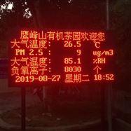 JYB-FY旅游民宿负氧离子空气监测站大屏显示