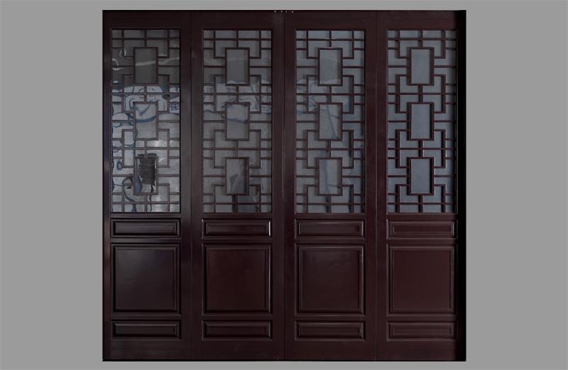 中式铝合金折叠车库门面板造型