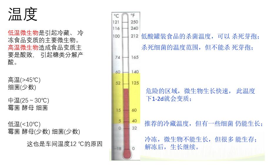 食品温度与微生物