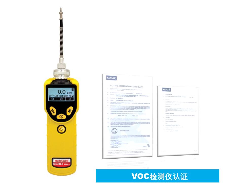 VOC检测仪相关证书