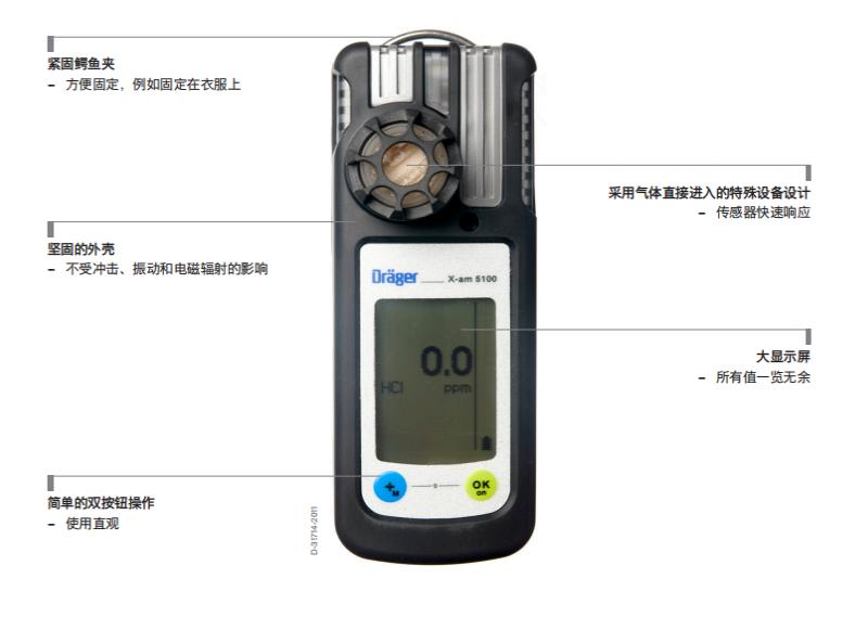 德尔格x-am5100气体检测仪