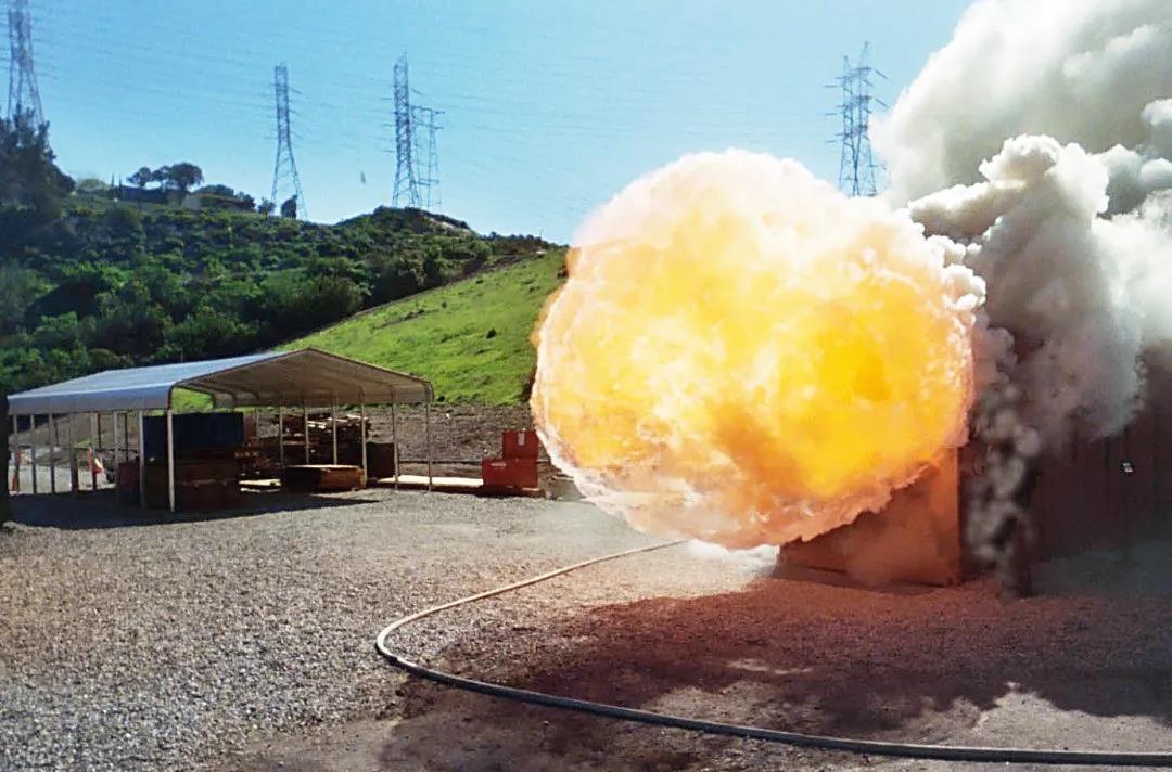 天然气爆炸现场